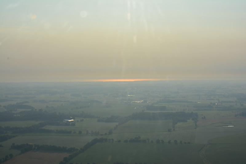 Early morning sun reflecting on Lake Winnebago.