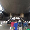 The B1-B provided a lot of shade for the crowds.