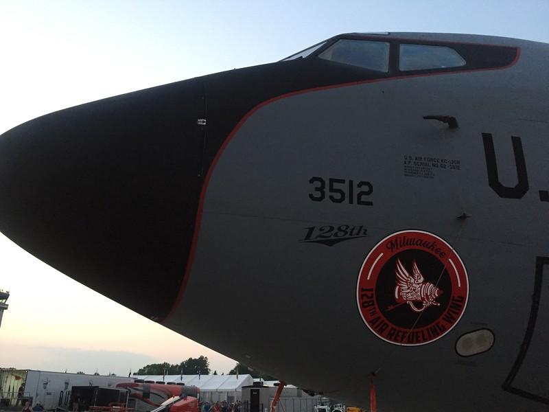 KC-135 tanker on the ramp.