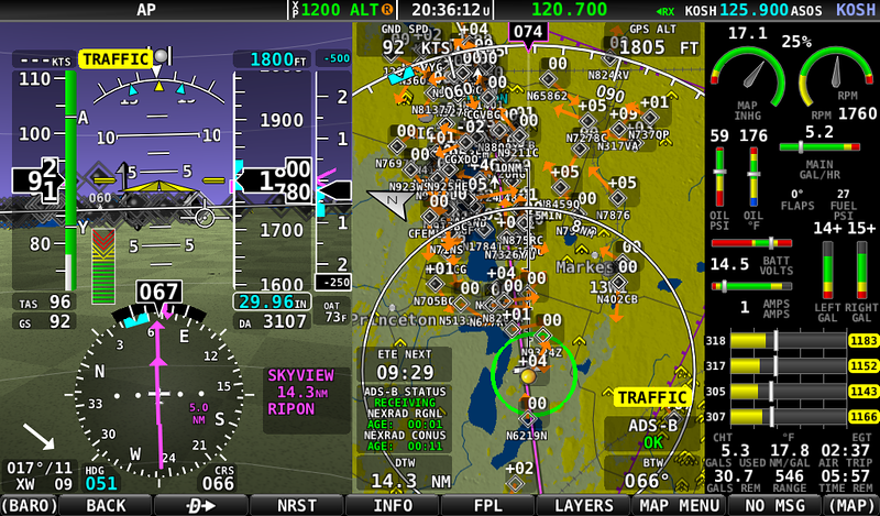 14 miles from RIPON and this is the situation. Way too many airplanes!