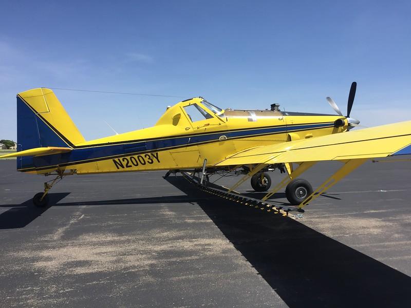 Ag plane on the ramp at Dumas, TX.