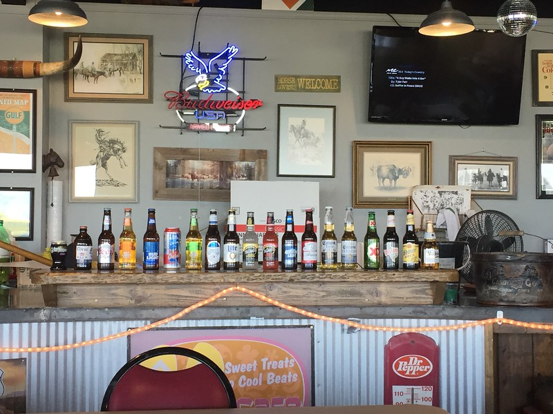We got more fuel at Dumas, Texas. Had lunch at Hogg's BBQ on the airport. Great food, but the beer selection was woefully absent of any craft beers.