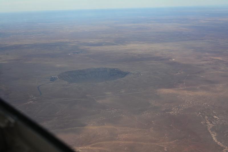 Meteor Crater below us.