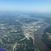 We took off in clear skies and headed over to Iowa, then into Wisconsin. We are over the Mississippi River here heading into WI.