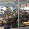 Cool memorabilia display in the EAA welcome center. 50th one in Oshkosh this year.