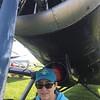 Alicia under the Antonov AN-2.
