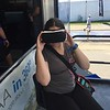Alicia doing the VR thing.