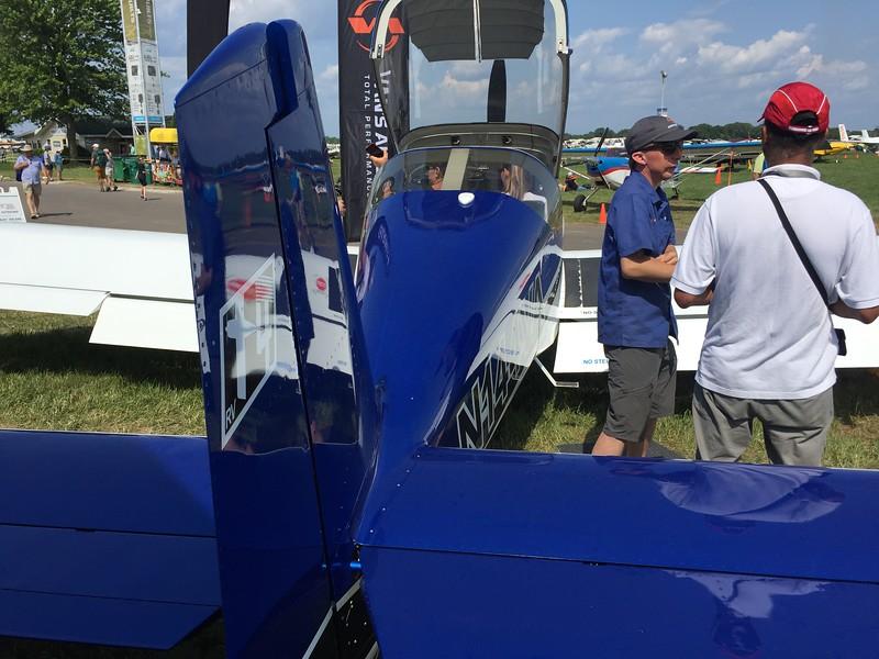 At the Van's tent looking at the RV-14.