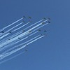 Large formation flights overhead.