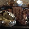 I went with the large Ribeye steak and it was delicious.