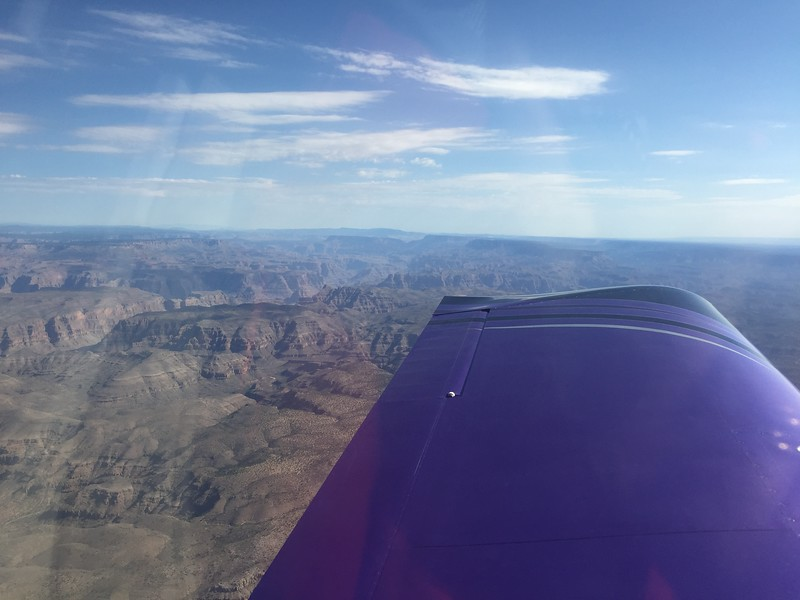 We took off Friday morning and flew along the edge of the Grand Canyon.