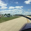 We got in the line of planes headed to Ripon and at Fisk we were told to rock our wings and head to runway 36L. We landed and here we are taxiing to Homebuilt Camping on Monday morning.