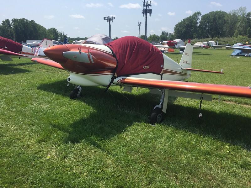 A Harmon Rocket with retractable gear.