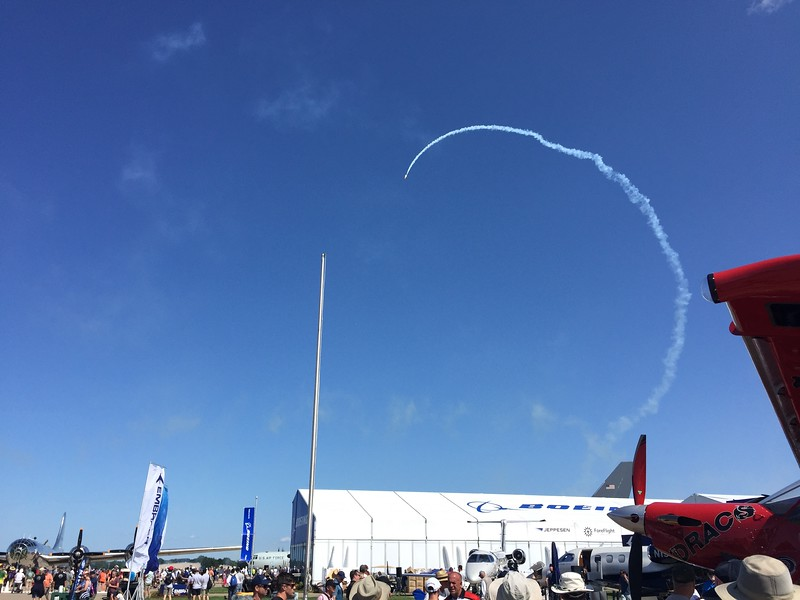 Time to get the daily airshow started.