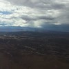 As we approached Moab, UT there were some storms to the east of us.