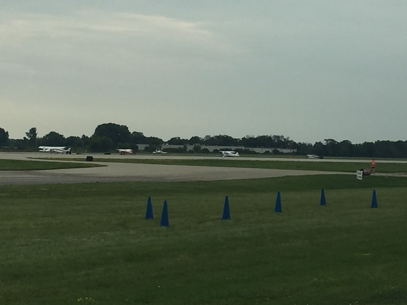 Taking off from 18L, which is normally a taxiway.