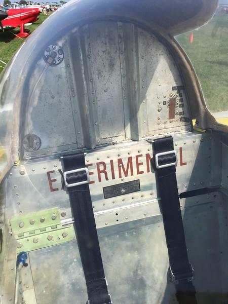 RV-5 fuel tank behind the pilot's head.