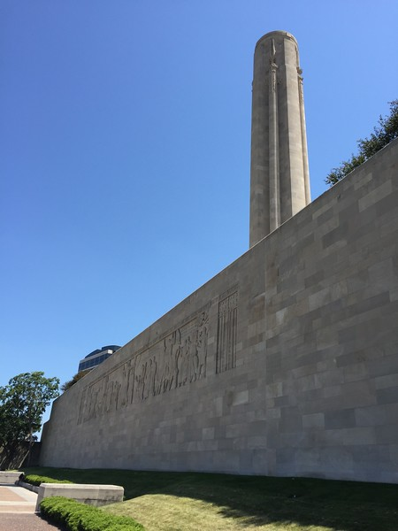 The grand Frieze sculpture on the north wall of the museum.