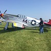 Red Tail P-51C model with the old style canopy.