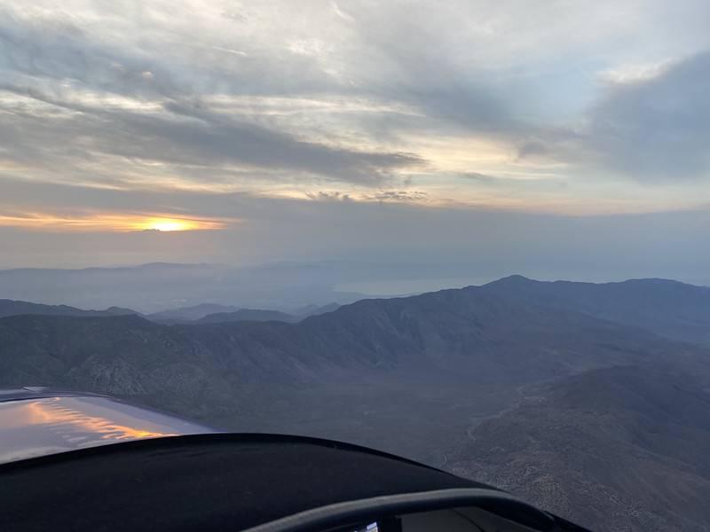 I started early on Saturday. Up and nearing the low desert by Salton Sea as the sun rose.
