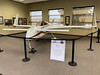 Rutan Long-Eze homebuilt in the lobby of the terminal at Scottsbluff.