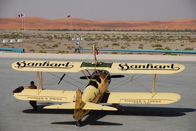 The plane used by Austrian wing walker Peggy Krainz.