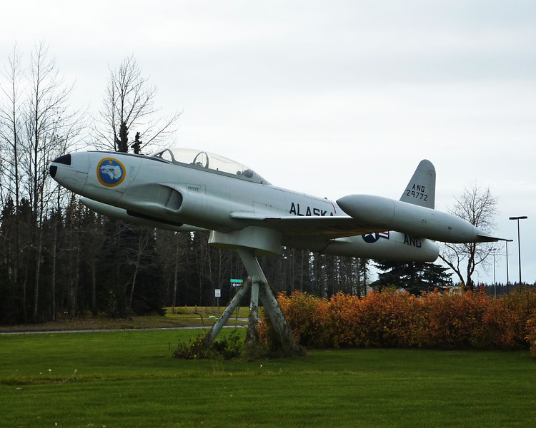 OK, so this bird is not in everyday use. But it's still a very well preserved Lockheed F-80 Shooting Star. Alaska ANG, Kenai, AK. October 2013.