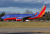 A Southwest 737 departs Albany for Las Vegas.