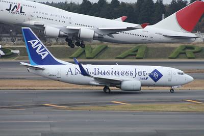 JA10AN ANA 737-700 JA8922 JAPAN AIRLINES 747-400