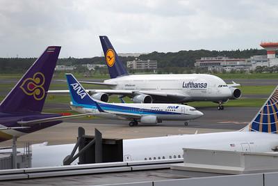 JA08AN ANA B737-700 D-AIME LUFTHANSA A380-800