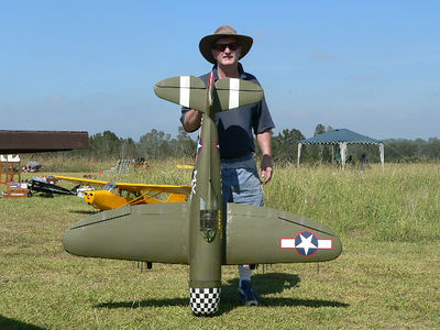 John Considine and his Top Flite P 47.