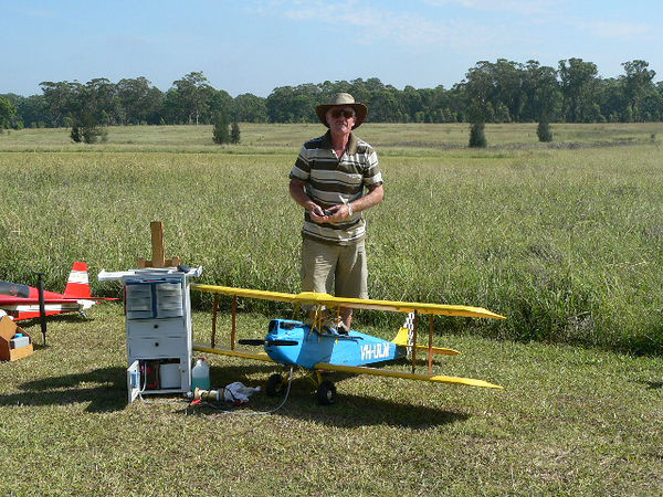 Robert Zyp and his Gypsy Moth