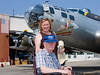 One-time B-17 gunner Jim Miller and his daughter received a flight on the aircraft.