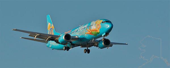 Alaska Airlines Disney Plane