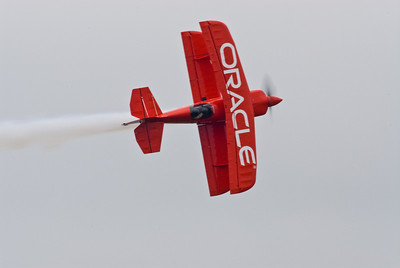 Sean Tucker in his Oracle Challenger biplane