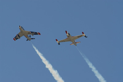 F-86 Sabre and F-9F Panther