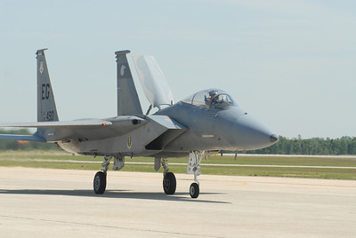 F-15 on the taxi way