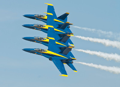 Blue Angels Echelon Pass at 400 + mph