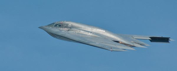 "Close up of the B-2 Spirit from Whiteman AFB Missouri.  This one is called ""Spirit of Nebraska"""
