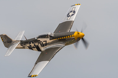 Jim Beasley in his P-51D Mustang