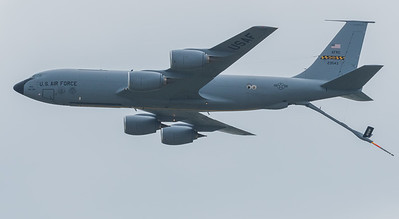 KC-135 Tanker with its tail boom extended.  This particular one belongs to the 459th Air Refueling Wing at Andrews AFB