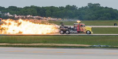 Shockwave Jet Truck on Runway 1R - 19L