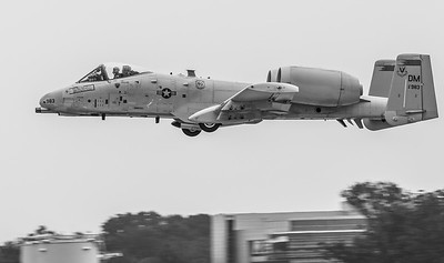 A-10 C Thunderbolt II from Davis-Monthan AFB, Arizona taking off on Runway 1R-19L