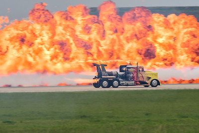 Shockwave Jet Truck and pyrotechnics