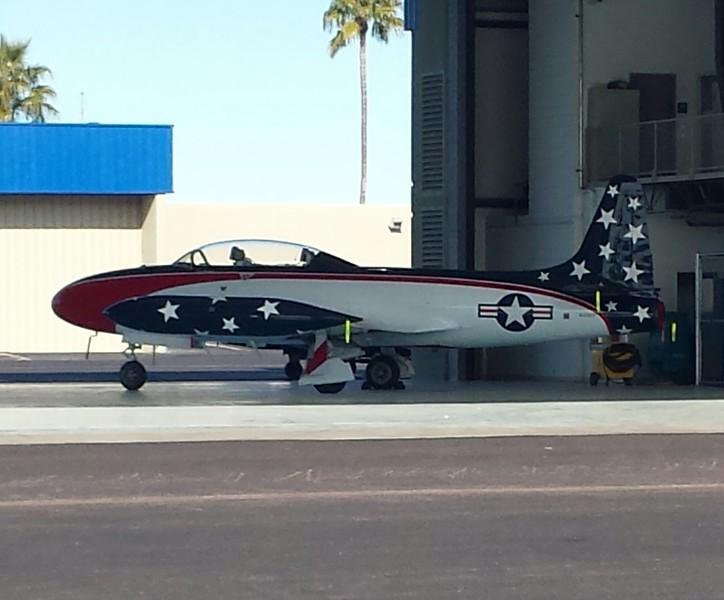 Red White Blue jet