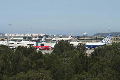 SYDNEY AIRPORT FROM THE HOTEL WINDOW