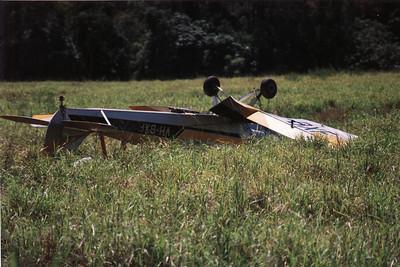 VH-BXF TIGER MOTH CRASH ( NO INJURIES )