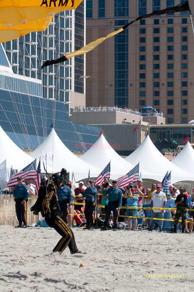 US Army Golden Knight  - performing at The 2011 Atlantic City Air Show, August 17, 2011