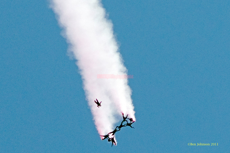 US Army Golden Knights  - performing at The 2011 Atlantic City Air Show, August 17, 2011