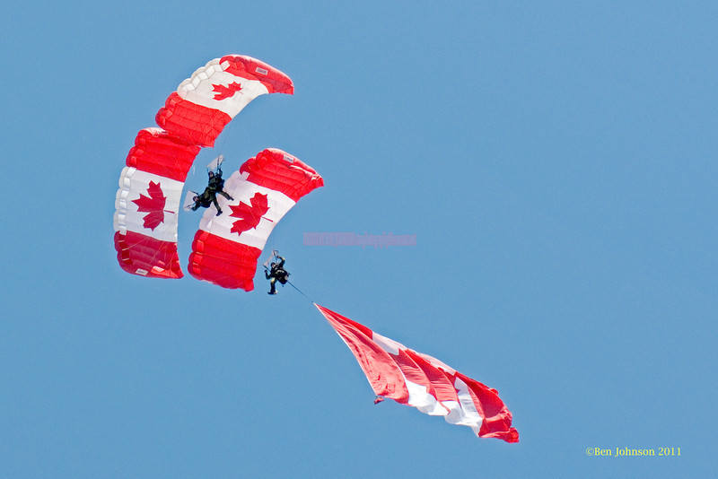 Canadian Skyhawk Jumper - performing at The 2011 Atlantic City Air Show, August 17, 2011